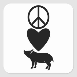 Peace Love & Pigs Stickers