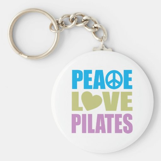 Peace Love Pilates Basic Round Button Keychain