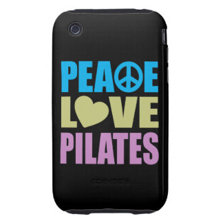 Peace Love Pilates Tough iPhone 3 Covers