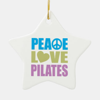 Peace Love Pilates Ceramic Ornament