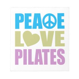 Peace Love Pilates Notepad