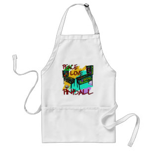 Peace Love Pinball Adult Apron