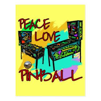 Peace Love Pinball Postcard