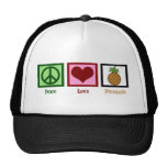 Peace Love Pineapple Hat