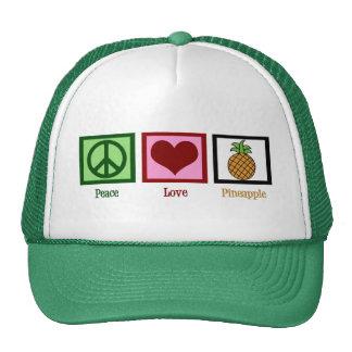 Peace Love Pineapple Trucker Hat