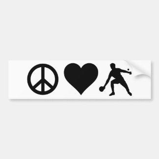 Peace Love Ping Pong Bumper Sticker