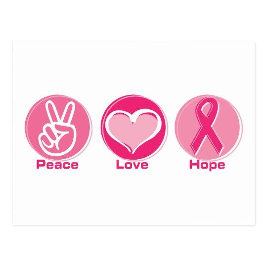 Peace Love Pink Hope Postcard