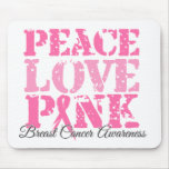 Peace Love Pink Mouse Pads