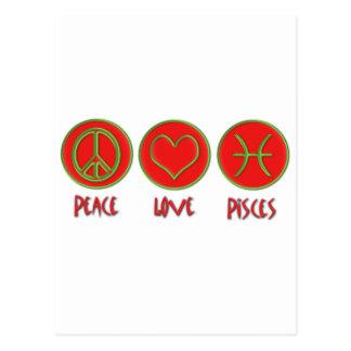 Peace Love Pisces Postcard