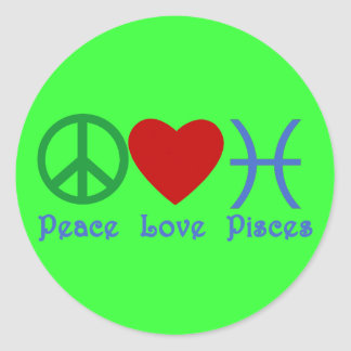 Peace Love Pisces Products Classic Round Sticker
