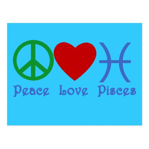 Peace Love Pisces Products Postcard