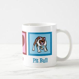Peace Love Pit Bull Coffee Mug
