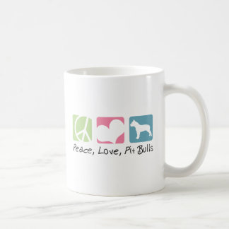Peace Love Pit Bulls Coffee Mug
