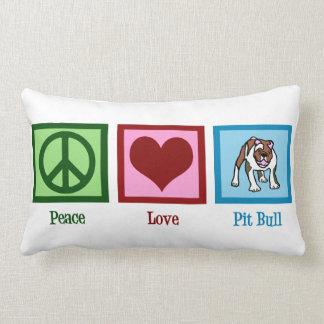 Peace Love Pit Bulls Lumbar Pillow