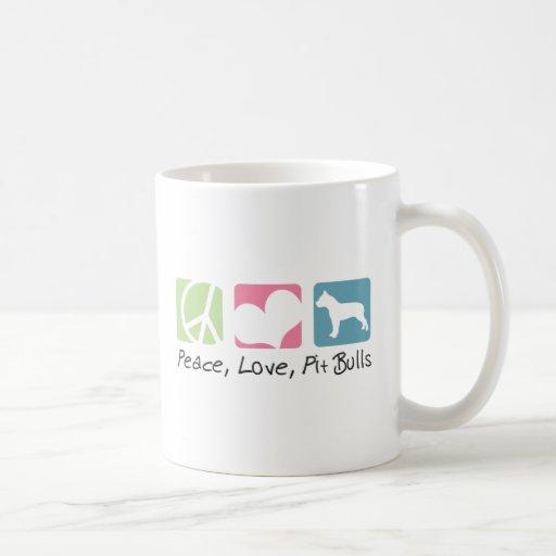Peace Love Pit Bulls Mug