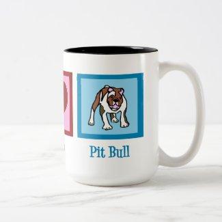 Peace Love Pit Bulls Mugs