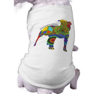 """Peace Love & Pit Bulls"" Pop Art Dog Tee"