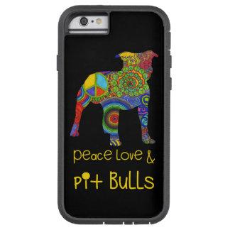 """""""Peace Love & Pit Bulls"""" Pop Art iPhone Case Tough Xtreme iPhone 6 Case"""