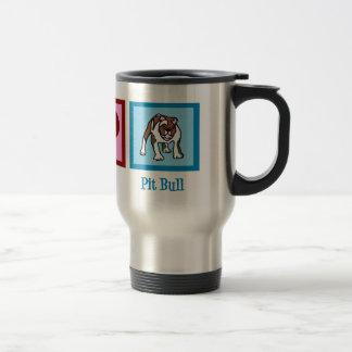 Peace Love Pit Bulls Travel Mug