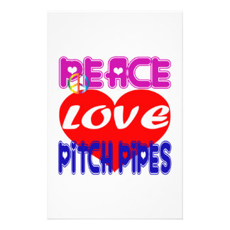 Peace Love Pitch Pipes Custom Stationery