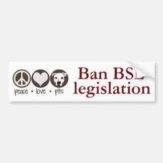 Peace Love Pits Bumper Sticker