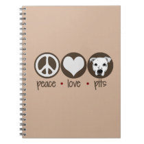 Peace Love Pits Notebook
