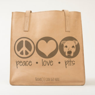 Peace, Love, Pits Tote
