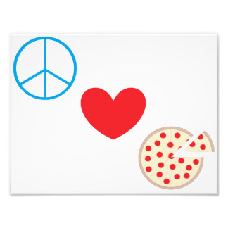 "Peace Love Pizza 8.5""x11"" Kitchen Wall Art Photo Print"