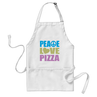 Peace Love Pizza Adult Apron