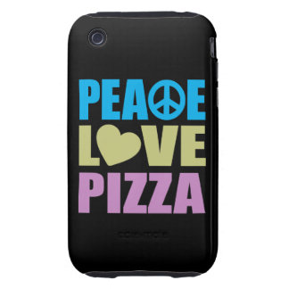 Peace Love Pizza iPhone 3 Tough Cases