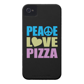 Peace Love Pizza iPhone 4 Case-Mate Case
