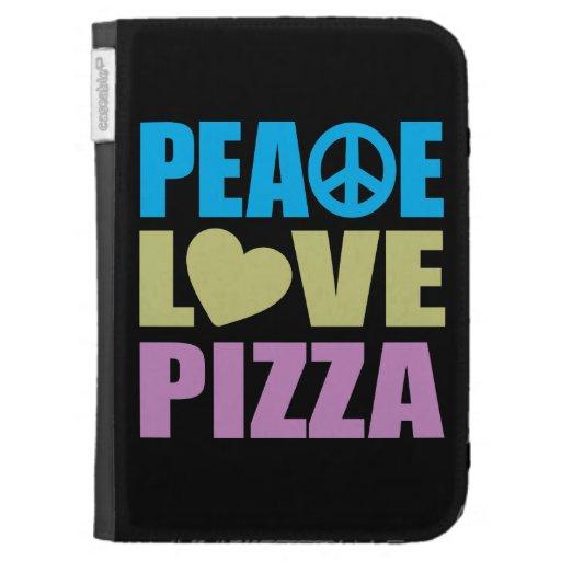 Peace Love Pizza Kindle Covers