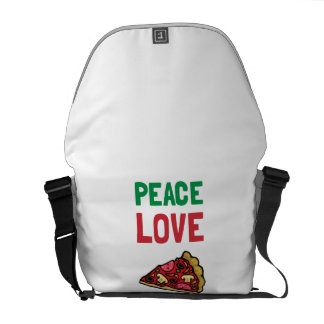 Peace Love Pizza Courier Bags