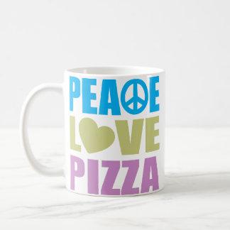 Peace Love Pizza Classic White Coffee Mug