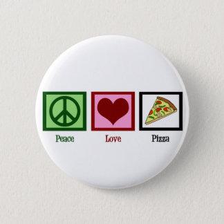 Peace Love Pizza Pinback Button