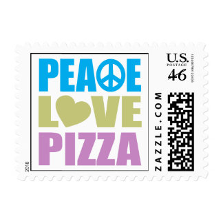 Peace Love Pizza Postage