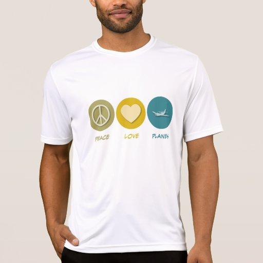 Peace Love Planes Tshirts