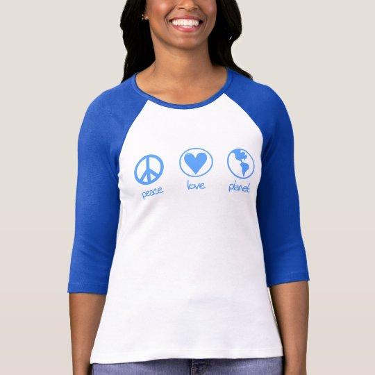 Peace Love Planet T-shirt