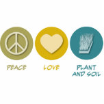 Peace Love Plant and Soil Science Acrylic Cut Outs