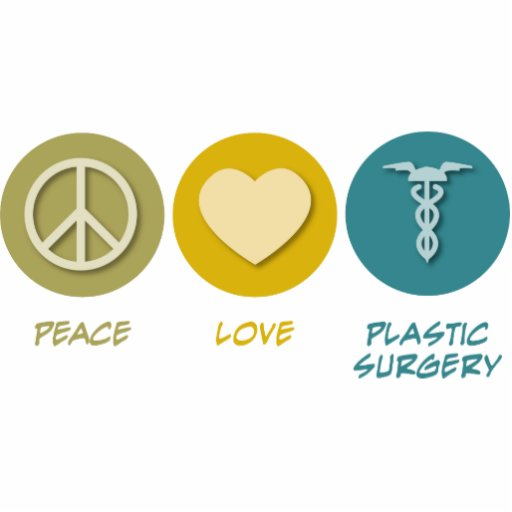 Peace Love Plastic Surgery Photo Cutout