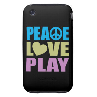 Peace Love Play Tough iPhone 3 Cover