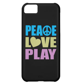 Peace Love Play iPhone 5C Covers