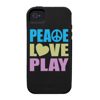 Peace Love Play iPhone 4/4S Case