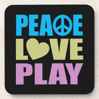 Peace Love Play Drink Coaster
