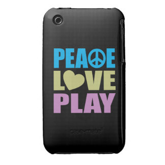 Peace Love Play iPhone 3 Cases