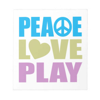 Peace Love Play Note Pad
