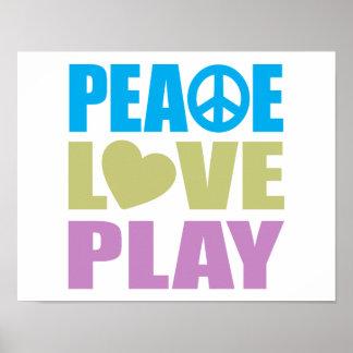 Peace Love Play Print