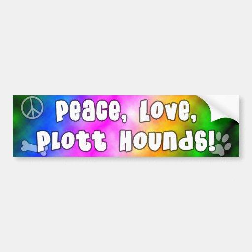 Peace Love Plott Hounds Bumper Sticker Car Bumper Sticker
