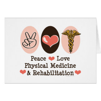 Peace Love PM R Blank Note Card Greeting Card