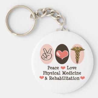 Peace Love PM R Key Chain